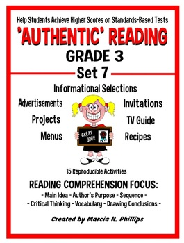 AUTHENTIC READING - GRADE 3 SET 7 (Of 8)