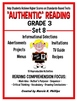 AUTHENTIC READING - GRADE 3 SET 8 (Of 8)
