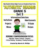 AUTHENTIC READING - GRADE 5 SET 3 (Of 8)