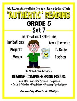 AUTHENTIC READING - GRADE 5 SET 7 (Of 8)