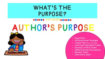 AUTHOR'S PURPOSE UNIT