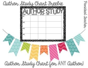 AUTHOR STUDY Chart Freebie
