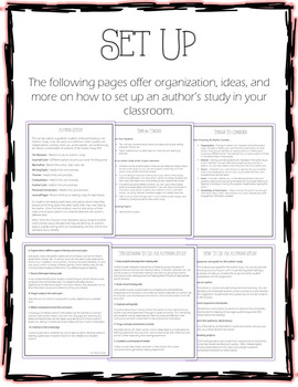 AUTHOR STUDY Packet Guide - Journal Covers, Notes, Reference, Vocabulary