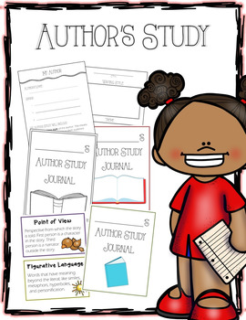 AUTHOR STUDY Packet Guide - Journal Covers, Notes, Referen