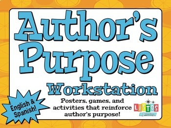 AUTHOR'S PURPOSE Workstation - English & Spanish