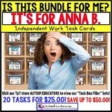 "AUTISM EDUCATORS Custom BUNDLE ""Task Box Filler"" Task Cards for ANNA B."