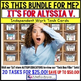 "AUTISM EDUCATORS Custom BUNDLE ""Task Box Filler"" Task Cards for ALYSSIA V."