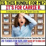 "AUTISM EDUCATORS - Custom BUNDLE ""Task Box Filler"" Task Cards for CARRIE R."