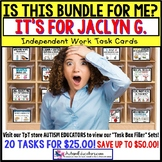 "AUTISM EDUCATORS Custom BUNDLE ""Task Box Filler"" Task Cards for JACLYN G."