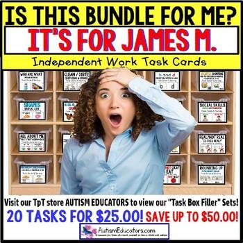 "AUTISM EDUCATORS Custom BUNDLE ""Task Box Filler"" Task Cards for JAMES M."