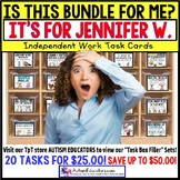 "AUTISM EDUCATORS Custom BUNDLE ""Task Box Filler"" Task Cards for JENNIFER W."