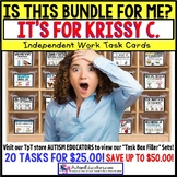 "AUTISM EDUCATORS Custom BUNDLE ""Task Box Filler"" Task Cards for KRISSY C."