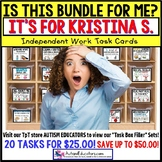 "AUTISM EDUCATORS Custom BUNDLE ""Task Box Filler"" Task Cards for KRISTINA S."