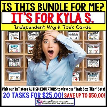 "AUTISM EDUCATORS Custom BUNDLE ""Task Box Filler"" Task Cards for KYLA S."