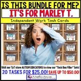 "AUTISM EDUCATORS Custom BUNDLE ""Task Box Filler"" Task Cards for MARLEY T."
