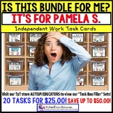 "AUTISM EDUCATORS Custom BUNDLE ""Task Box Filler"" Task Cards for PAMELA S."