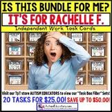 "AUTISM EDUCATORS Custom BUNDLE ""Task Box Filler"" Task Cards for RACHELLE F."