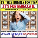 "AUTISM EDUCATORS Custom BUNDLE ""Task Box Filler"" Task Cards for REBECCA R."