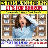 "AUTISM EDUCATORS Custom BUNDLE ""Task Box Filler"" Task Cards for SHARON"