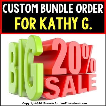 AUTISM EDUCATORS Custom Bundle Order For KATHY G.