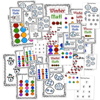 AUTISM FILE FOLDER TASKS/WORK JOBS FOR BEGINNING MATH-HOLIDAY THEME