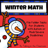 AUTISM FILE FOLDER TASKS/WORK JOBS FOR BEGINNING MATH-HOLI