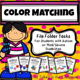 AUTISM FILE FOLDER TASKS/WORK JOBS FOR COLOR MATCHING