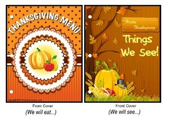 THANKSGIVING Build A Sentence with Pictures Adapted Book for Autism