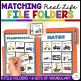 AUTISM MATCHING REAL LIFE VOCABULARY FILE FOLDERS 2 (special education; autism)