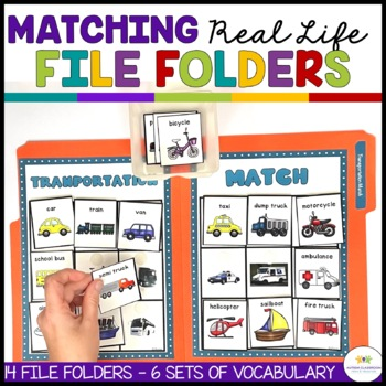 AUTISM MATCHING REAL LIFE VOCABULARY FILE FOLDERS 2 (speci