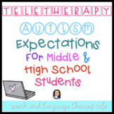 AUTISM: TELETHERAPY EXPECTATIONS FOR MIDDLE AND HIGH SCHOO