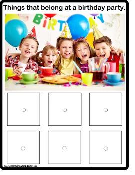 AUTISM - What Belongs? Literacy Center {Kindergarten,1st , Special Education}