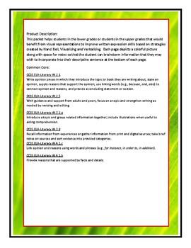 AUTISM:Writing: Sentences; Picture stimulus