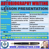 AUTOBIOGRAPHY WRITING LESSON PRESENTATION