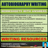 AUTOBIOGRAPHY WRITING TASK CARDS