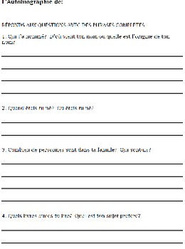 AUTOBIOGRAPHY report template writing worksheets primary C
