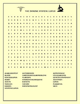 AUTOIMMUNE DISEASES: A BUNDLE OF TEN WORD SEARCHES