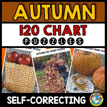 AUTUMN 120 CHART ACTIVITY MYSTERY PICTURE PUZZLES (FALL MATH CENTER FIRST GRADE)
