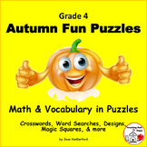 AUTUMN | FUN PUZZLES | Math & Vocabulary CORE | FALL Gr.4