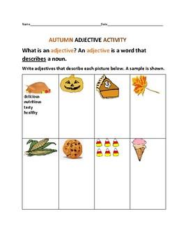 AUTUMN ADJECTIVE ACTIVITY