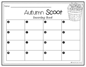 AUTUMN Addition and Subtraction Scoot with & without Regrouping {QR Codes}