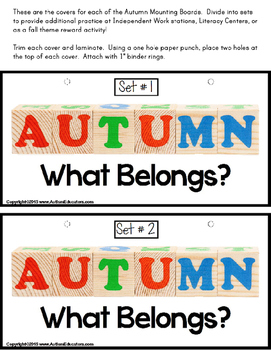 AUTUMN  Association What Belongs Interactive Literacy for NON-READERS for AUTISM