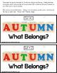 AUTUMN  Association What Belongs Interactive Literacy for