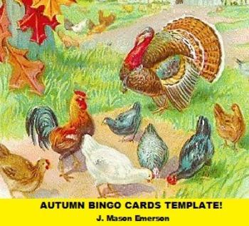 AUTUMN BINGO CARDS TEMPLATE! (ENGLISH, SPANISH)