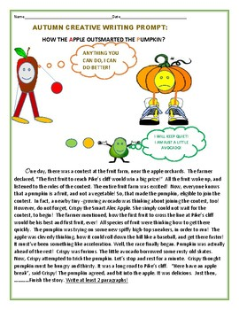 AUTUMN CREATIVE WRITING PROMPT: HOW THE APPLE OUTSMARTED THE PUMPKIN?
