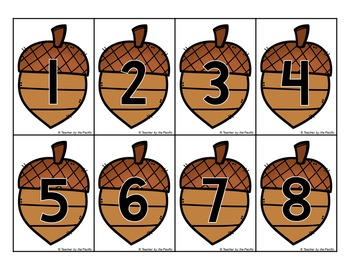 AUTUMN / FALL Math - Count the Room – Ten Frames and Numbers 1 - 10
