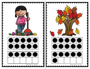 AUTUMN / FALL Math - Count the Room ? Ten Frames and Numbers 1 - 20 {BUNDLE}