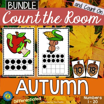 AUTUMN / FALL Math - Count the Room - Ten Frames and Numbers 1 - 20 {BUNDLE}