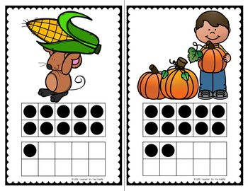 AUTUMN / FALL Math - Count the Room – Ten Frames and Numbers 11 - 20