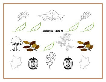 AUTUMN IS HERE: COLORING PAGE: K-2